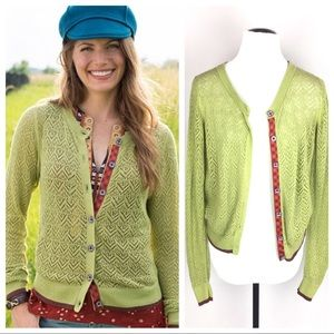 Matilda Jane Secret Fields ivy green cardigan